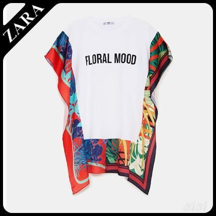 ★ZARA★ザラ  T-SHIRT WITH CONTRASTING PRINT