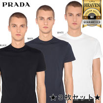 【正規品保証】PRADA★18春夏★3 PACK COTTON JERSEY T-SHIRT