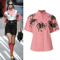 PR1089 LOOK30 SPIDER PRINT COTTON SHORT SLEEVE SHIRT