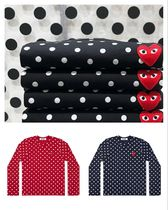 COMME des GARCONS PLAY レッドハートポルカドットロングTシャツ