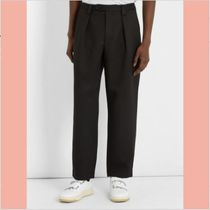 【数量限定】18SS Airan Poly pleated straight-leg trousers