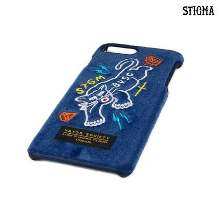 STIGMA スマホケース・テックアクセサリー STIGMA◆BLACK PANTHER VELVET FABRIC CASE◆iphone7/8/X(3)