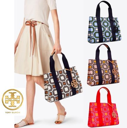Tory Burch トートバッグ 最新作限定セール 4色 トリーバーチ PRINTED TORY TOTE