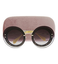 『関税・送料無料』MIU MIU MU10RS Reveal round sunglasses