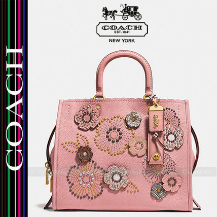 COACH★大人気!ローグ☆ROGUE SNAKESKIN TEA ROSE RIVETS 26890