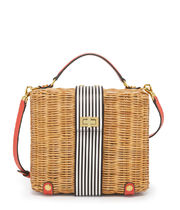 MONTAUK WICKER LUNCH BOX かごバッグ