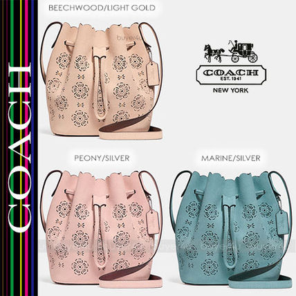 COACH★バケットバッグ☆BUCKET BAG 18 CUT OUT TEA ROSE 25193