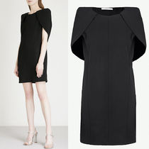 18SS G277 WOOL CREPE MINI DRESS WITH CAPE DETAIL