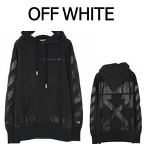 Off-White新作正規品/EMS/送料込み Off-White×Champion Hoody