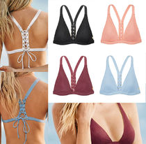 RIBBED LACE-UP RACERBACK TRIANGLE