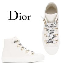 【18SS】大注目!!★Dior★logo lace high top sneakers