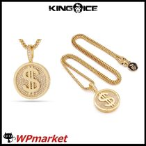 ★King Ice 14K Gold Fortune Coin ネックレス【関税送料込】