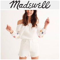 Madewell(メイドウェル) ブラウス・シャツ 【MADEWELL】●日本未入荷● embroidered off-the-shoulder top