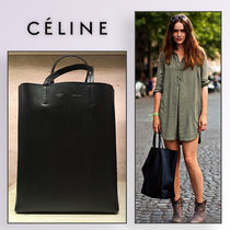 CELINE カバ small VERTICAL Cabas in grained calfskin black