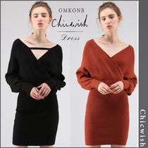 【国内発送・関税込】Chicwish★Modern Wrapped Knit Dress