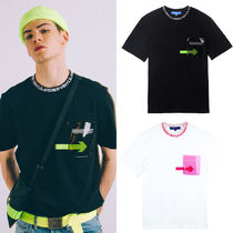 STEREO VINYLS COLLECTION(ステレオビニールズコレクション) Tシャツ・カットソー ★STEREO VINYLS★2018 SS Transparent Pocket T-Shirts★2色