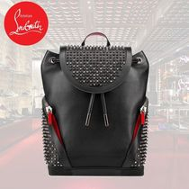 SALE CHRISTIAN LOUBOUTIN LEATHER BACKPACK 3175044B115