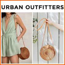 新作18SS☆Urban Outfitters☆Circle Straw Crossbody Bag