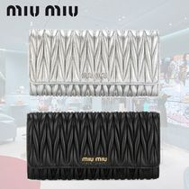 VIPSALE MIU MIU NAPPA LEATHER METALLIC WALLET 5MH109N88