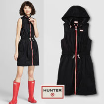 Hunter for Target 超軽量!Zip front Hooded Dress Black