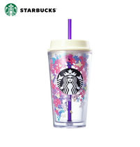 ★STARBUCKS★ Spring flower floating coldcup 473ml
