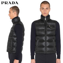 【正規品保証】PRADA★18春夏★RIPSTOP NYLON DOWN VEST_BLACK
