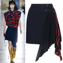 18SS G311 LOOK6 CREPE MINI SKIRT WITH PLEATED PANEL