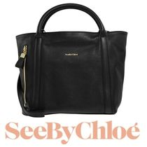 18春夏 ☆See by Chloe☆ HARRIET HOBO 2wayバッグ S BLACK♪