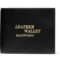Printed Textured-Leather Billfold Wallet(関税送料込)18ss