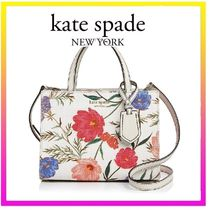 [kate spade] 小さめ2way Thompson Street Sam Linen Satcheal