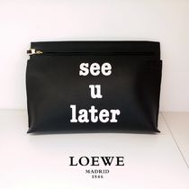 ◆LOEWE◆カーフスキン♪Tポーチ SEE U LATERクラッチバッグ