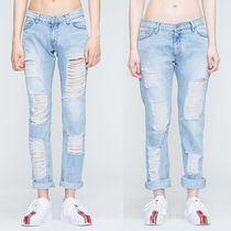 ★ROMANTIC CROWN★日本未入荷 Light Blue Damage Pants