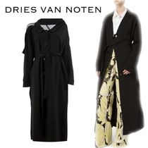 【18SS】★Dries Van Noten★single-breasted long bellted coat
