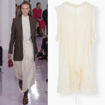 18SS C341 LOOK41 SHEER CREPE SLEEVELESS TOP WITH TIE DETAIL