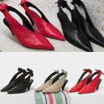Celine【入手困難 】V NECK PUMP WITH KNOT結びリボンパンプ全色