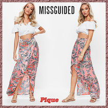 Missguided★ペイズリープリントスプリットマキシスカート
