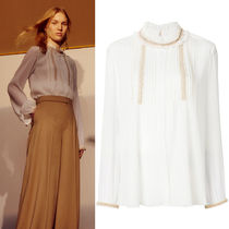 18SS C345 LOOK23 EMBELLISHED CREPON TOP