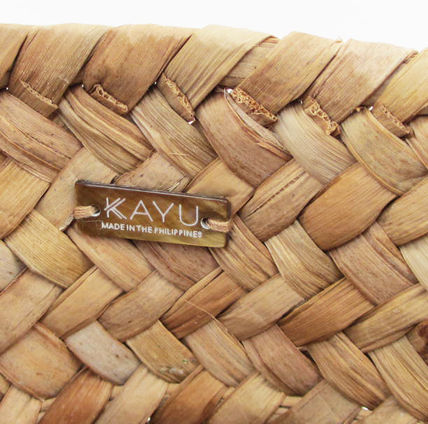 KAYU かごバッグ 即納(KAYU) Mini St Tropez Toteぼんぼり飾りミニトート国内発送(5)