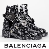 BALENCIAGA Ceinture Boots with Tatouage Prints 関税送料込
