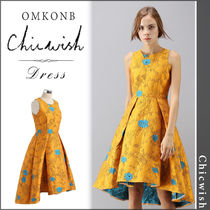 【国内発送・関税込】Chicwish★Golden Roses Jacquard Dress