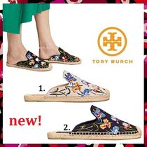 新作 セール Tory Burch 人気 Max Embroidered Espadrille Slide