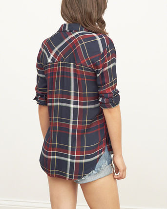 Abercrombie & Fitch ブラウス・シャツ 国内発送 Plaid Flannel Shirtこの色が好き(2)