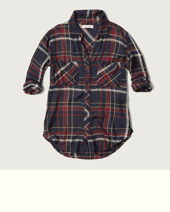 Abercrombie & Fitch ブラウス・シャツ 国内発送 Plaid Flannel Shirtこの色が好き(3)