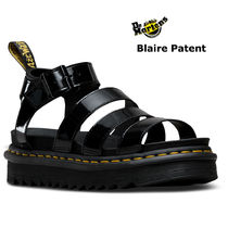 【Dr Martens】Blaireブラックパテントサンダル