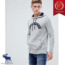 ◆Abercrombie&Fitch アバクロ フロック ロゴ入り パーカー Grey