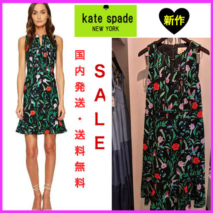 【国内発送】完売間近! Kate spade Jardin tile jacquard dress