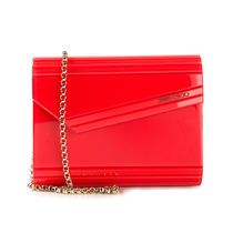 JIMMY CHOO アウトレット チェーンクラッチ CANDY RED