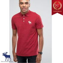 ◆Abercrombie&Fitch アバクロ ExplodedIcon Poloシャツ Red