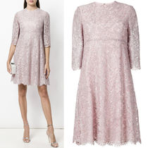 18SS V1069 HEAVY LACE LUREX DRESS