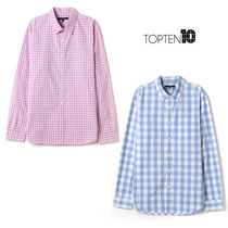 TOPTEN10(トップテン) シャツ TOPTEN10★日本未入荷★MEN'S WASHED CHECK SHIRTS 2色